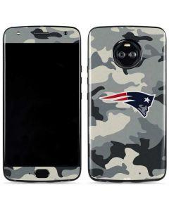 New England Patriots Camo Moto X4 Skin