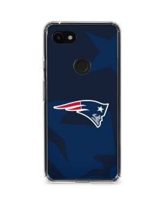 New England Patriots Double Vision Google Pixel 3a XL Clear Case