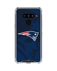 New England Patriots Double Vision LG V50 ThinQ Clear Case