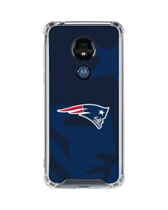 New England Patriots Double Vision Moto G7 Power Clear Case