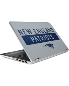 New England Patriots Grey Performance Series HP Pavilion Skin