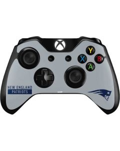 New England Patriots Grey Performance Series Xbox One Controller Skin