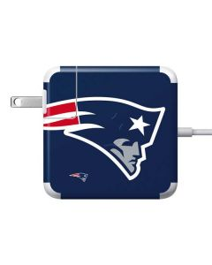 New England Patriots Large Logo Apple Charger Skin