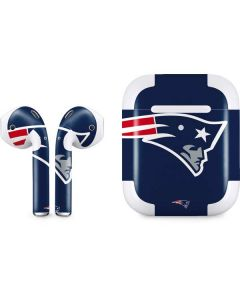 New England Patriots Large Logo Apple AirPods 2 Skin