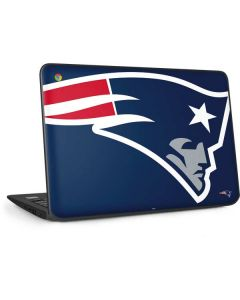 New England Patriots Large Logo HP Chromebook Skin