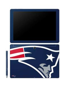 New England Patriots Large Logo Galaxy Book 12in Skin