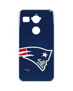 New England Patriots Large Logo Google Nexus 5X Clear Case