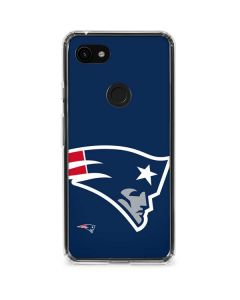 New England Patriots Large Logo Google Pixel 3a Clear Case