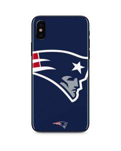 New England Patriots Large Logo iPhone X Skin