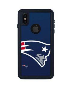 New England Patriots Large Logo iPhone XS Waterproof Case