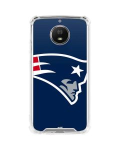 New England Patriots Large Logo Moto G5S Plus Clear Case