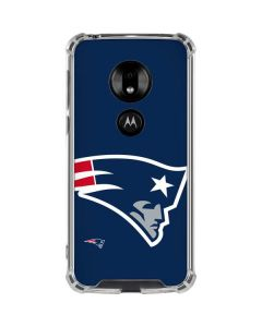 New England Patriots Large Logo Moto G7 Play Clear Case