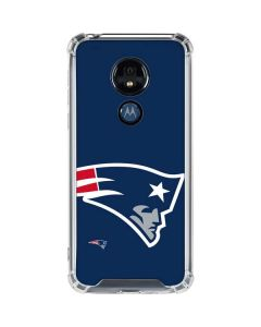 New England Patriots Large Logo Moto G7 Power Clear Case