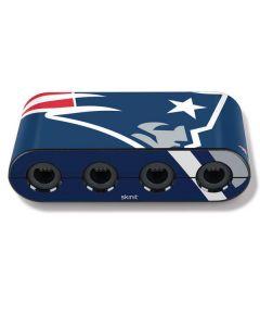 New England Patriots Large Logo Nintendo GameCube Controller Adapter Skin