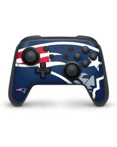 New England Patriots Large Logo Nintendo Switch Pro Controller Skin