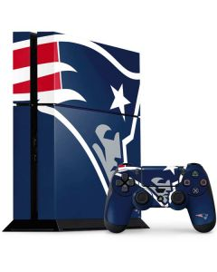 New England Patriots Large Logo PS4 Console and Controller Bundle Skin