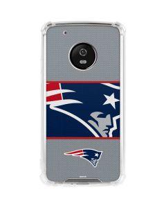 New England Patriots Zone Block Moto G5 Plus Clear Case
