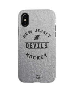 New Jersey Devils Black Text iPhone X Pro Case