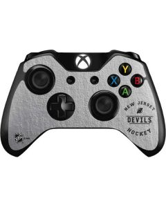 New Jersey Devils Black Text Xbox One Controller Skin