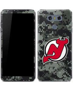 New Jersey Devils Camo LG G6 Skin