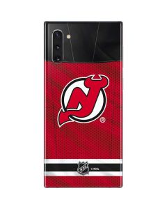 New Jersey Devils Home Jersey Galaxy Note 10 Skin