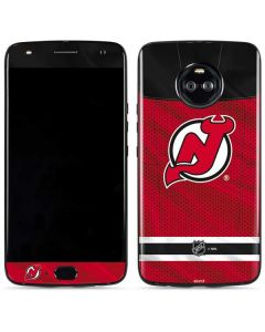 New Jersey Devils Home Jersey Moto X4 Skin