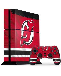New Jersey Devils Home Jersey PS4 Console and Controller Bundle Skin