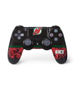 New Jersey Devils Retro Tropical Print PS4 Pro/Slim Controller Skin