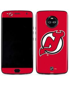 New Jersey Devils Solid Background Moto X4 Skin