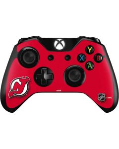 New Jersey Devils Solid Background Xbox One Controller Skin