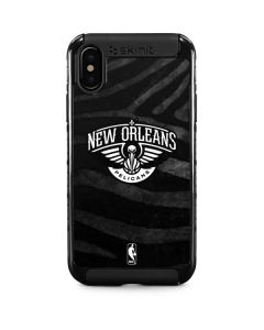 New Orleans Pelicans Black Animal Print iPhone XS Cargo Case