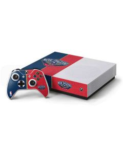 New Orleans Pelicans Canvas Xbox One S All-Digital Edition Bundle Skin