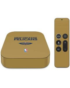 New Orleans Pelicans Standard - Gold Apple TV Skin