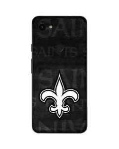 New Orleans Saints Black & White Google Pixel 3a Skin