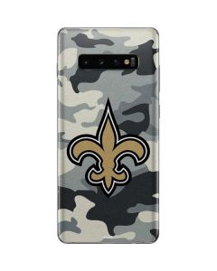 New Orleans Saints Camo Galaxy S10 Plus Skin