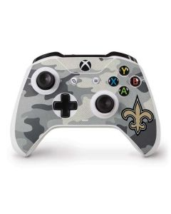 New Orleans Saints Camo Xbox One S Controller Skin