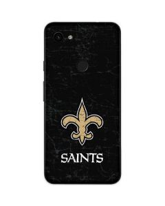 New Orleans Saints Distressed Google Pixel 3a Skin