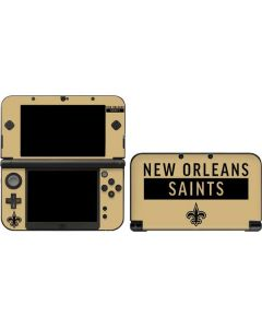 New Orleans Saints Gold Performance Series 3DS XL 2015 Skin