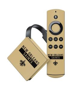 New Orleans Saints Gold Performance Series Amazon Fire TV Skin