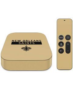 New Orleans Saints Gold Performance Series Apple TV Skin
