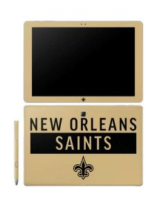 New Orleans Saints Gold Performance Series Galaxy Book 10.6in Skin