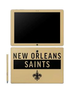 New Orleans Saints Gold Performance Series Galaxy Book 12in Skin