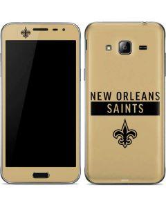 New Orleans Saints Gold Performance Series Galaxy J3 Skin