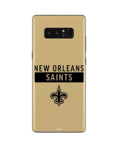 New Orleans Saints Gold Performance Series Galaxy Note 8 Skin