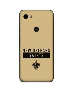 New Orleans Saints Gold Performance Series Google Pixel 3a Skin