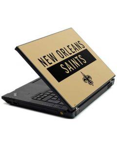 New Orleans Saints Gold Performance Series Lenovo T420 Skin