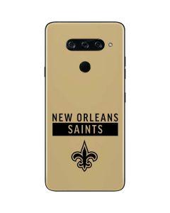 New Orleans Saints Gold Performance Series LG V40 ThinQ Skin