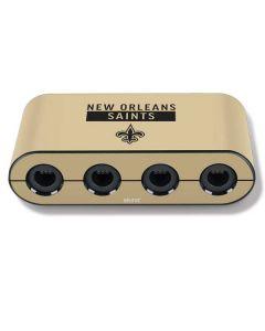 New Orleans Saints Gold Performance Series Nintendo GameCube Controller Adapter Skin