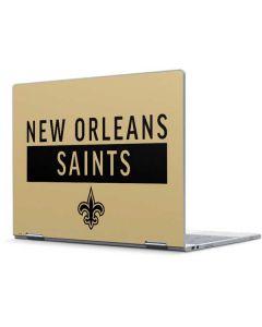 New Orleans Saints Gold Performance Series Pixelbook Skin