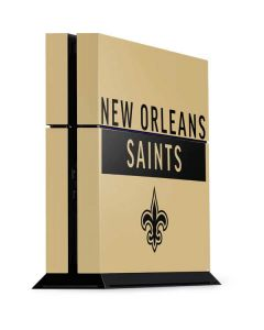 New Orleans Saints Gold Performance Series PS4 Console Skin